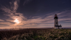 Yaquina Head Sunset (Dan Mihai) Tags: ocean light sunset sea lighthouse seascape beautiful clouds oregon landscape c