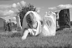 Undead (SDewittPhoto) Tags: white black girl cemetery bride model zombie undead