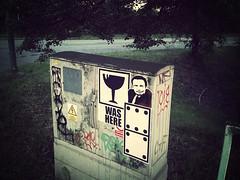 Wheatpaste- nice shot by Zodiac. (glascheerz) Tags: streetart poster sticker wheatpaste zodiac domino glas ostrava metancity