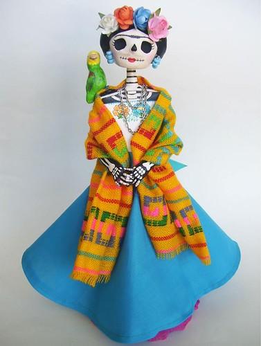 Frida Catrina de papel mache