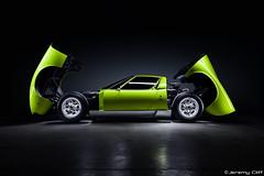 Lamborghini Miura S:  Automotive Royalty (jeremycliff) Tags: original red cliff chicago green canon illinois s jeremy exotic lime lamborghini supercar v12 miura p400 lamborghinimiura lamborghinimiuras jeremycliff jeremycliffcom originalsupercar jeremycliffphotography chicagoautomotivephotography automotiveroyalty