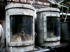 Jekyll and Hyde Ghost Humvee With Failed Cryogenics Tubes 3200 (Brechtbug) Tags: street new york city nyc robert halloween hat monster square skulls skeleton skull restaurant costume king with mr top dr ghost broadway lewis location kong hyde stevenson doctor figure horror theme mister times skeletons avenue 9th humvee creature villain prop jekyll waxwork cryogenics cryonics 2013 43th
