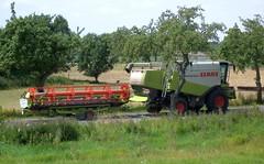 Erntezeit in der Altmark ... (bayernernst) Tags: deutschland sommer landwirtschaft x juli ernte claas mhdrescher sachsenanhalt landmaschinen altmark 2013 elberadweg tangermnde landmaschine erntezeit