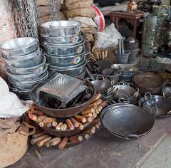 Pots and Pans (peak4) Tags: india pen olympus explore pots bazzar jaipur rajasthan omd pans em5 tripolia