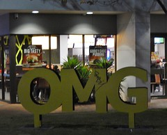 Oh My God In Real Life (mikecogh) Tags: expression perth installation cbd omg sms ohmygod abbreviation