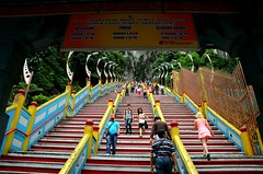 Cave Steppers (Pedestrian Photographer) Tags: people june stairs temple colorful asia stair steps stairway climbing caves step malaysia cave kuala southeast kl batu lumpur 2013 dsc2325 dsc2325jpg