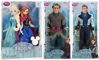 Disney Store Frozen Dolls