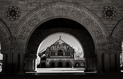 Stanford University (Rodney Harvey) Tags: california blackandwhite architecture university arch mosaic stonework grand stanford infrared stevejobs intricate campu