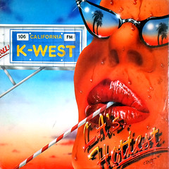 L.A.'s Hottest Sucker (epiclectic) Tags: trees music art sunglasses illustration radio vintage losangeles graphic album vinyl straw lips palm retro collection cover sweat lp record 1981 various fm sleeve epiclectic safesafe tfsbigws