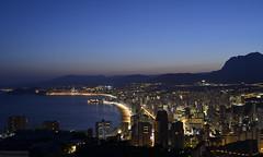 Bay Watch - EXPLORED - Thank you! (Fotomondeo) Tags: sunset españa valencia atardecer lights evening luces spain nikon alicante tarde benidorm sigma1020mm nikond7000