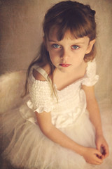 Allie (Elizabeth Hudson) Tags: portrait white colour texture girl beautiful angel photo wings eyes child dress artistic photograph featherwings nuneatonphotographer