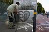 """Reverse Graffiti """"Io vado ai 30"""" (Centro Antartide) Tags: centro bologna bici pedoni guerrillamarketing 30kmh zone30 antartide sicurezzastradale reversegraffiti centroantartide salvaciclisti utentideboli"""