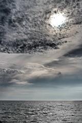 Gray (Lindsey... Instagram - 0lindsey0) Tags: ocean blue sea sky sun sunlight nature water clouds dark waves cloudy gray flickrchallengegroup flickrchallengewinner achallengeforyou thechallengefactory cannonrebelt5i