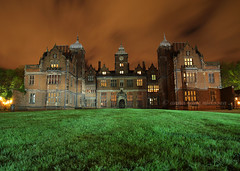 Aston Hall by Candlelight (.annajane) Tags: uk longexposure england night clouds hall birmingham candlelight mansion westmidlands aston astonhall jacobean