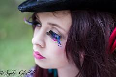 Kat (Sophie Alice Gledhill) Tags: red colour hat hair wonder 50mm nikon long lashes alice fake lips bow land wonderland in d3100