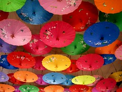 Painting the Mood  with Colors (yijin56) Tags: color colour colors umbrella catchycolors happy colorful mood colours colourful umbrellas vision:sky=0556 vision:plant=0578