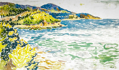Henri Edmond Cross - Meersbucht (South France) at Städel Museum Frankfurt Germany (mbell1975) Tags: france art museum germany painting french landscape deutschland gallery museu cross frankfurt south fine arts musée musee m impressionism museo impression impressionist henri muzeum edmond hesse beauxarts müze gallerie städel museumuseum meersbucht