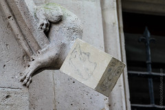 Cubist Gargoyle (MauricioMoura.com) Tags: sculpture france europe cathedral catedral frana places gargoyle rouen vandalism cathedrale