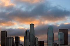 Los Angeles Sky Line (Lorne Thomas) Tags: california city sky clouds losangeles nikon dusk stormclouds downtownlosangeles nikond800e sigma35mmf14dg