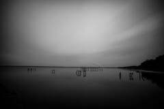 Escambia Bay (RW Sinclair) Tags: blackandwhite bw monochrome digital 35mm bay sony voigtlander wide super fullframe alpha 15mm a7 heliar escambia mirrorless floridatown monochromefx 7ilce7