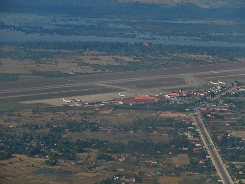 Siem Reap Airport From Upstairs