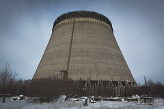Cooling tower. It reached -40 degrees inside this! (JPS Images) Tags: lenin plant monument memorial doll power radiation april 1986 reactor chernobyl exploded plutonium kindergarton pripyat