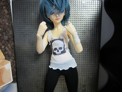 punkshow01 (sushi-street) Tags: fashion set skull outfit clothing punk doll clothes tanktop bjd dollfie leggings minifee