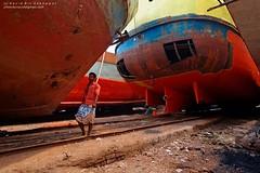 The Iron Grave (navid bin sakhawat) Tags: red yellow flickr ship break bin dhaka bangladesh navid sakhawa