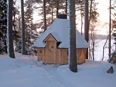 Puumerkki Cottage Hut Winter