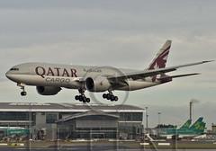 BFB Landing (planecrazypeter) Tags: dublin flight first visit cargo landing boeing dub qatar in firstvisit b777 qtr 777200 b772 eidw