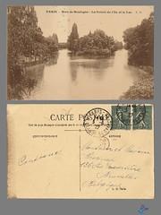PARIS - Bois de Boulogne - La Pointe de l'Ile et le Lac (bDom) Tags: paris 1900 oldpostcard cartepostale bdom
