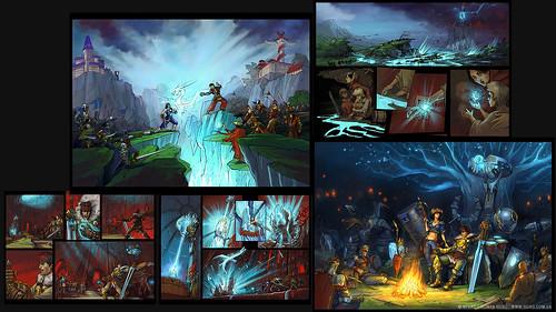 Фрагменты комиксов для игры Prime World: Defenders