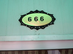 666 (cowyeow) Tags: china sign asian restaurant funny asia chinese 666 number badsign satan devil demonic address funnysign jinan funnychina