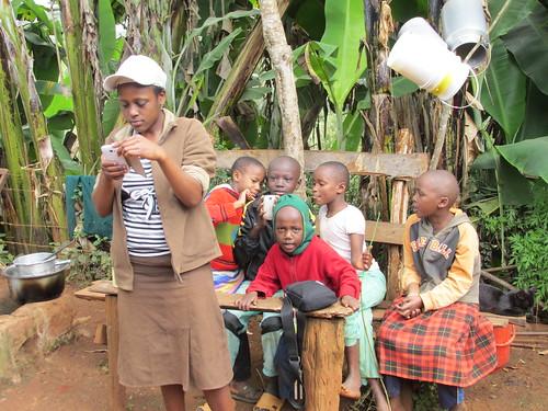 Visite de la famille au village, Kenya