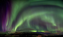 Aurora Pano ([inFocus]) Tags: longexposure sky panorama mountain mountains colour green norway night canon stars landscape lights lowlight long colours nightshot nighttime nightsky northernlights afterdark auroraborealis 1635mm skibotn 1635mmf28lii nightafterdark 5dmkiii