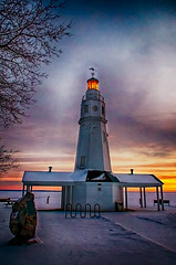 Lightedhouse (jmishefske) Tags: park lighthouse lake river point pentax january cities fox kimberly lakewinnebago 2015 neenah k01 lowerfoxriver neenahlight