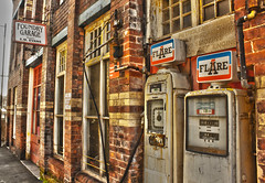 Foundary Garage, Denbigh (ianlewney) Tags: wales place garage north chapel vale hdr denbigh clwyd denbighshire foundary