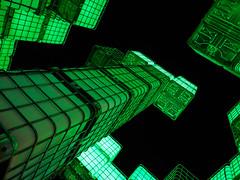 KUBIK (II) (prozla) Tags: de bayern deutschland nrnberg wassertank blauenacht kubik lichtskulptur