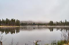 20160514_DSC2477 (Todd Plunkett) Tags: usa lake water weather fog colorado unitedstates parks estespark vacations rockymountainnationalpark spraguelake 2016rockymountainnationalpark