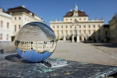 The palace upside down (FocusPocus Photography) Tags: reflection building palace rig schloss spiegelung gebude ludwigsburg spe crystalball kristallkugel