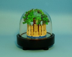 The Floating City of Laputa (Melan-E) Tags: city sky castle lego display floating micro laputa afol