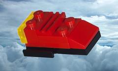 VT Transport Shuttle Red (EliteGuard01) Tags: photoshop lego space transport micro shuttle sciencefiction spaceship rha spaceshuttle vt civilian moc ldd legodigitaldesigner miniship scify airshowshipyards vttransportshuttle atmospherictransport royalhumanalliance