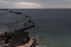 Piedras, caon y  horizonte (fedelea1962) Tags: sunset sea atardecer mar venezuela colonia rocas piratas horizonte caribe