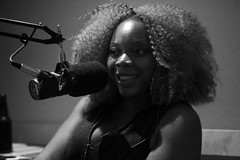 IMG_0330BW (Chrissy Tha Black) Tags: show street new york city nyc portrait bw podcast art monochrome wall closeup canon studio fun 50mm for comedy angle good room wide engine culture indoor mikey portraiture pete times network discussion miss podcasting premium likes lissa recording knows creaitves
