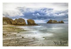 cerrias hdr (diegogonzlezvilda) Tags: costa naturaleza playa paisaje cielo nubes rocas cantabria largaexposicion