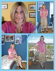 Kirsten? (krislagreen) Tags: pumps dress feminine cd femme tan hose tgirl transgender blond transvestite mauve crossdress platforms tg cardi patent feminization feminized turbocollage