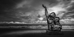 1900 Storm Memorial -  Into The Storm (Mabry Campbell) Tags: sea blackandwhite usa galveston monochrome june statue bronze clouds dark photography coast photo memorial moody texas photographer image fav50 tx unitedstatesofamerica fineart dramatic fav20 seawall hasselblad f90 coastal photograph 100 24mm fav30 fineartphotography 2016 commercialphotography fav10 fav100 fav40 fav60 galvestoncounty fav90 fav80 fav70 1900hurricanememorial 1900stormmemorial sec davidwmoore mabrycampbell h5d50c hcd24 june32016 greatgalvestonhurricane 20160603campbellb0000180