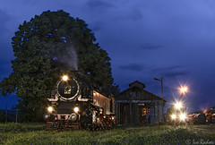 Before the rain (Rivo 23) Tags: night train railway scene steam 150 depot locomotive railways attraction bulgarian 1627  4603 bdz   momchilgrad  162t
