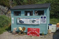 Skye Ferry Hut (Tom Willett) Tags: skye ferry scotland highlands isleofskye glenelg sleet kylerhea carferry soundofsleet turntableferry originalskyeferry