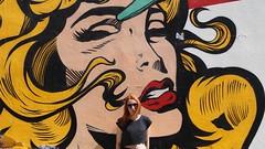(marirenaa) Tags: street trip woman streetart art me colors girl wall comics ginger colorful sad drawing crying redhead greece redhair volos